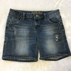 Justice Jean Shorts 16 Simply Low Denim Distressed